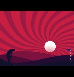 golfer silhouette vector image