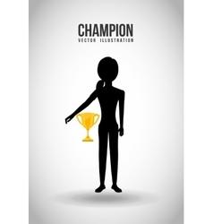 Celebrate champion vector