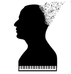 Pianist like a piano vector