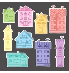 Set colorful houses vector image