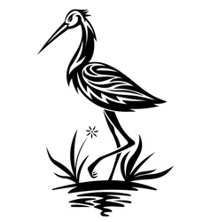 heron bird vector image