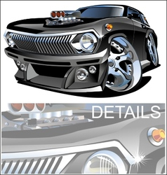 Cartoon retro hot rod vector image