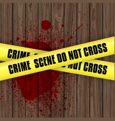 Blood splattered crime scene background vector