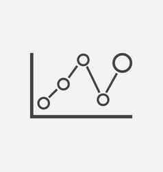Business graph icon chart flat on white background vector