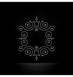 Calligraphic Frame Retro Design vector image