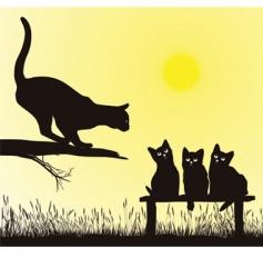 cat school vector image
