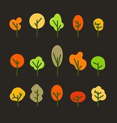 Different tree silhouettes clip-art design vector