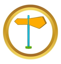 Direction signs icon cartoon style vector image vector image