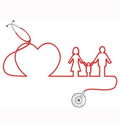 Family healthcare vector