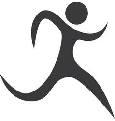 figure athlete silhouette icon vector image vector image
