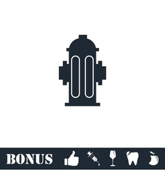 Fire hydrant icon flat vector