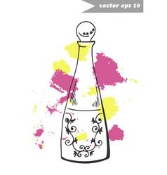 fragnance bottle 2 vector image vector image