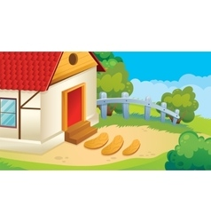 Game Background Of Village vector image vector image