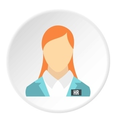 Girl worker icon flat style vector image