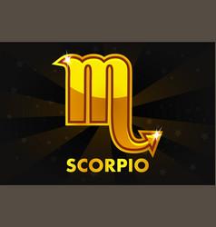 golden astrology signs on black background zodiac vector image vector image