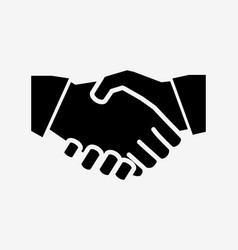 handshake solid icon vector image vector image