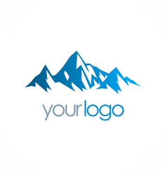 ice moutain logo vector image