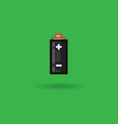 icon battery with poles charging plus and vector image vector image