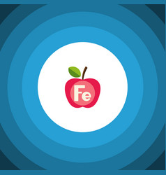 isolated ferrum flat icon apple element vector image vector image