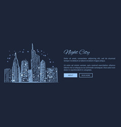 night city web page and text vector image vector image