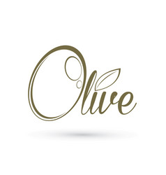 olive text design graphic outline vector image vector image