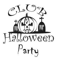 Party Halloween Poster logos vector image