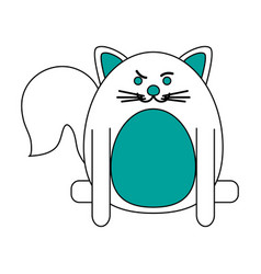 Rude face pet cat vector