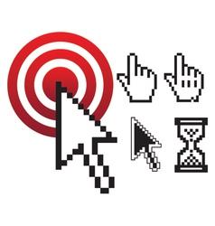 Set of pixel cursors vector