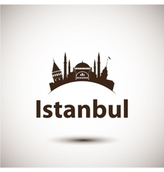 silhouette of Istanbul Turkey vector image vector image