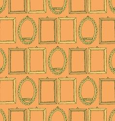 Sketch frames in vintage style vector image