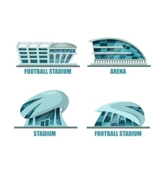 Soccer field or football stadium architecture vector image vector image