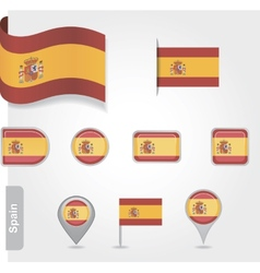 Spanish flag icon vector image vector image