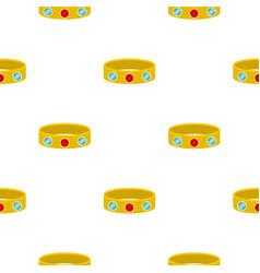 Vintage gold bangle pattern seamless vector