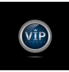VIP silver label vector image vector image