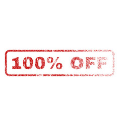 100 percent off rubber stamp vector image