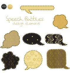 Set of different speech bubbles design elements vector