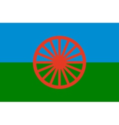 Gypsy flag - symbol of nomads vector
