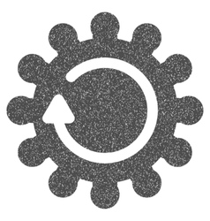 Cog rotation grainy texture icon vector