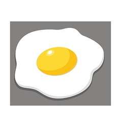 Icon fried egg vector