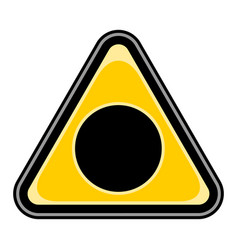 Black hole sign triangular sticker vector