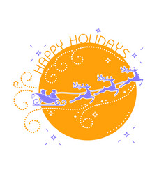 Silhouette christmas day vector