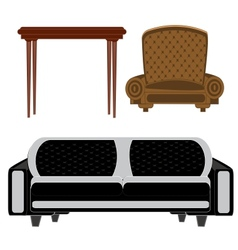 Furniture for building vector