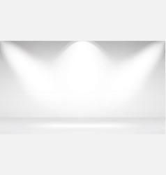 photo studio room empty white interior realistic vector image