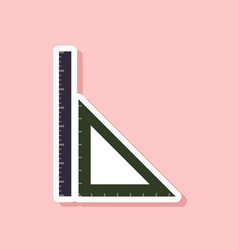 Paper sticker on stylish background ruler vector
