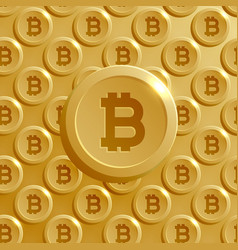 Background made with bitcoins pattern vector