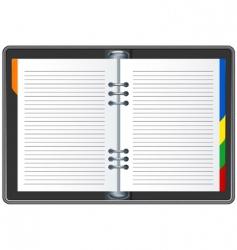 Organizer book vector