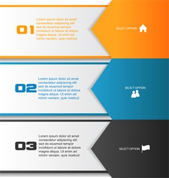 Arrow infographic template vector