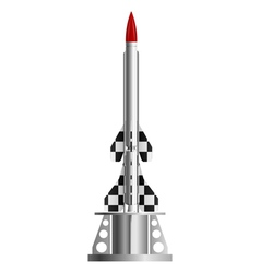 Two-stage rocket on the launch pad vector