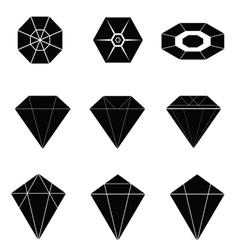 Diamonds black vector