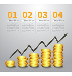 Golden coin graph money vector